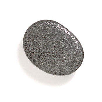 Modern Objects Bamboo & Stone Collection 1-1/4'' Diameter Stone 1 Oval Knob in Antique Pewter, 1-1/4'' Diameter x 5/8'' D x 5/8'' H