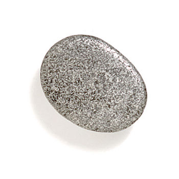 Modern Objects Bamboo & Stone Collection 1-1/4'' Diameter Stone 1 Oval Knob in Polished Pewter, 1-1/4'' Diameter x 5/8'' D x 5/8'' H