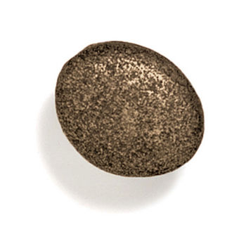 Modern Objects Bamboo & Stone Collection 1-3/8'' Diameter Stone 3 Oval Knob in Antique Brass, 1-3/8'' Diameter x 7/8'' D x 7/8'' H