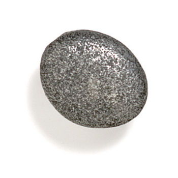 Modern Objects Bamboo & Stone Collection 1-3/8'' Diameter Stone 3 Oval Knob in Antique Pewter, 1-3/8'' Diameter x 7/8'' D x 7/8'' H