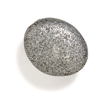 Modern Objects Bamboo & Stone Collection 1-3/8'' Diameter Stone 3 Oval Knob in Polished Pewter, 1-3/8'' Diameter x 7/8'' D x 7/8'' H