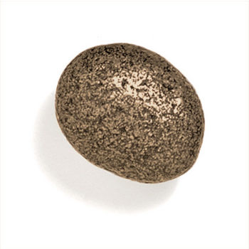Modern Objects Bamboo & Stone Collection 1-1/2'' Diameter Stone 5 Oval Knob in Antique Brass, 1-1/2'' Diameter x 1'' D x 1'' H
