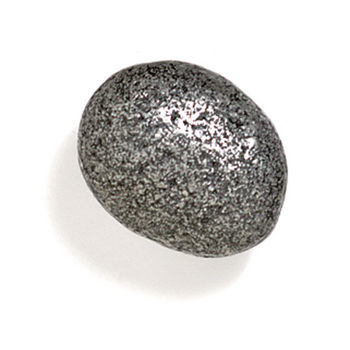 Modern Objects Bamboo & Stone Collection 1-1/2'' Diameter Stone 5 Oval Knob in Antique Pewter, 1-1/2'' Diameter x 1'' D x 1'' H