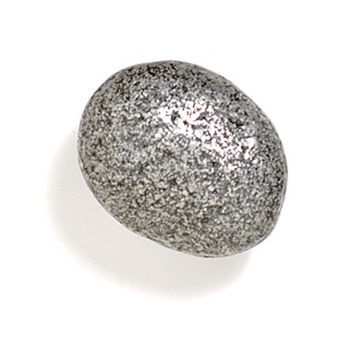 Modern Objects Bamboo & Stone Collection 1-1/2'' Diameter Stone 5 Oval Knob in Polished Pewter, 1-1/2'' Diameter x 1'' D x 1'' H