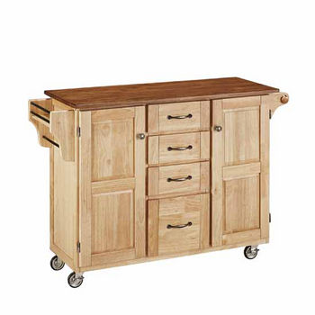 "Mix & Match Create-a-Cart Natural Finish with Oak Top by Home Styles, 48""W x 17-3/4""D x 35-1/2""H"