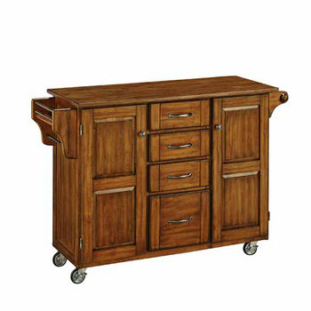 "Mix & Match Create-a-Cart Warm Oak Finish with Oak Top by Home Styles, 48""W x 17-3/4""D x 35-1/2""H"