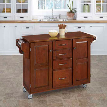 Mix & Match Create-a-Cart Cherry Finish with Cherry Top by Home Styles