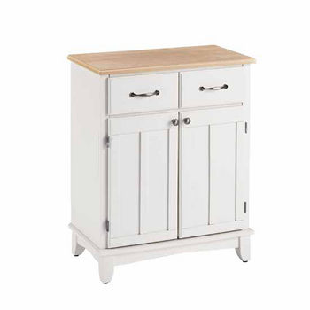 Mix & Match Buffet Server with White Base and Natural Top