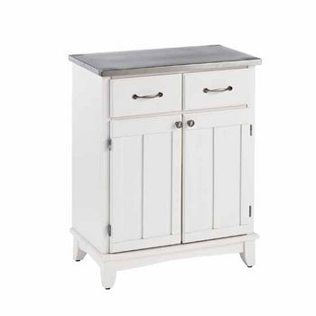 Mix & Match Buffet Server with White Base and Stainless Steel Top