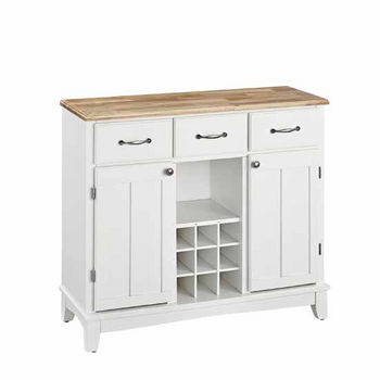 Mix & Match Large Buffet Server Off-White Base with Natural Top