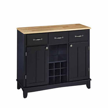 Mix & Match Large Buffet Server Black Base with Natural Top