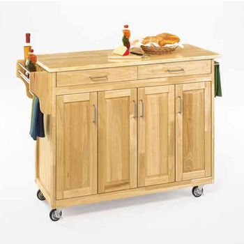 Mix and Match Create-a-Cart Natural Finish Wood Top