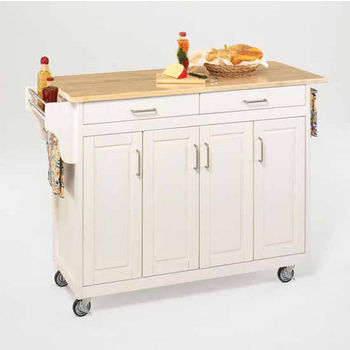 Mix and Match Create-a-Cart White Finish Wood Top