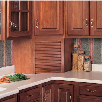 Appliance Garages With Tambour Doors In Corner Or Straight