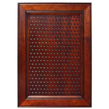 Door Inserts Solid Wood Basketweave Embossed Panel In