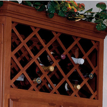 Cabinet Mount Wine Bottle Lattice