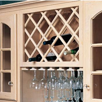 Cabinet Mount Deluxe Wine Bottle Lattice