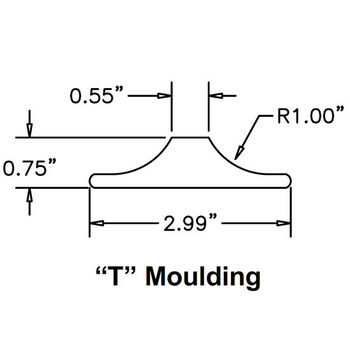 Moulding ''T'' Specifications