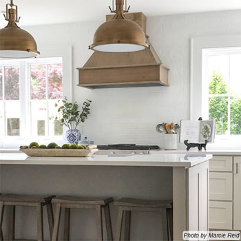 Signature Series Wall Mounted Range Hood with Straight Valance - by Omega National