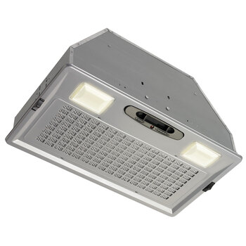 Omega National Broan 390 CFM Blower Power Pack & Liners for Wood Range Hoods in Silver Metallic Finish