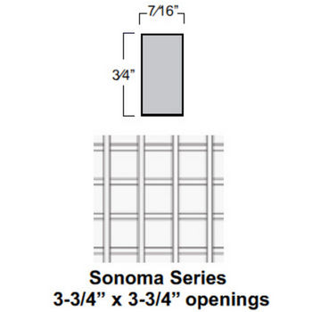Sonoma Series Cabinet Mount Wine Lattice