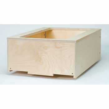 "Omega National 15"" Select Wood Waste/Recycle Drawer, Single"