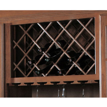 Omega National Cabinet Mounted Wine Bottle Lattice With Inverted Edges,  Maple, 17 Part 31