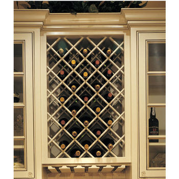 Omega National Premium Wood Cabinet Mount Wine Bottle Lattice, 18 Bottle  Capacity, 24 Part 39