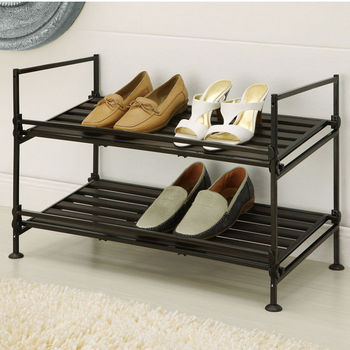 Neu Home Ebonize Collection 2 Tier Shoe Rack
