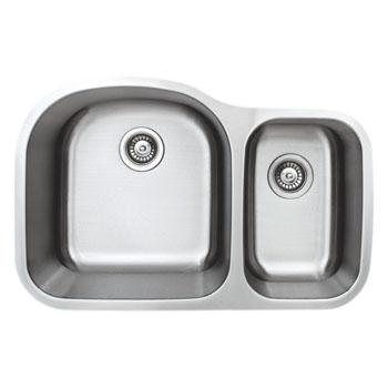 Wells Sinkware Craftsmen Series Stainless Steel Double Bowl Undermount Sinks