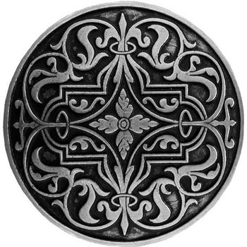 Notting Hill Classic Collection 1-7/16'' Diameter Renaissance Round Cabinet Knob in Brilliant Pewter, 1-7/16'' Diameter x 7/8'' D
