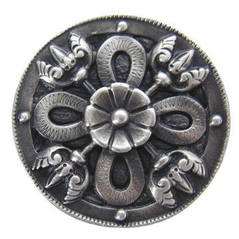 Knob, Celtic Shield, Antique Pewter