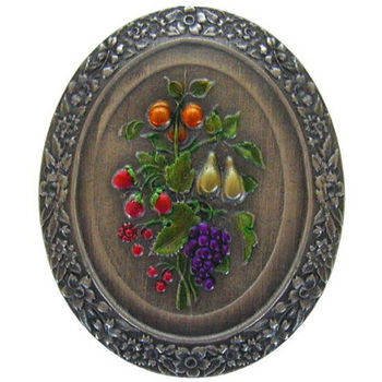Knob, Fruit Bouquet, Hand Tinted Pewter