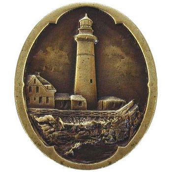 Knob, Guiding Lighthouse, Antique Brass