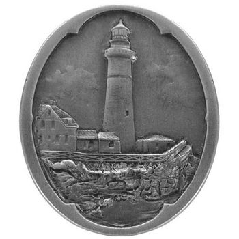 Knob, Guiding Lighthouse, Antique Pewter