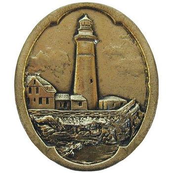 Knob, Guiding Lighthouse, Brite Brass