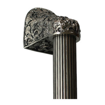 Notting Hill Florals & Leaves Collection 12'' to 16'' Wide Florid Leaves Fluted Bar Appliance Pull in Satin Nickel