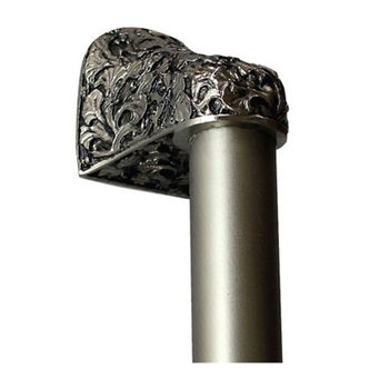 Notting Hill Florals & Leaves Collection 12'' to 16'' Wide Florid Leaves Plain Bar Appliance Pull in Satin Nickel