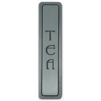 Notting Hill Kitchen ID Collection 4'' Wide (Vertical) ''Tea'' Cabinet Pull in Antique Pewter, 4'' W x 7/8'' D x 7/8'' H