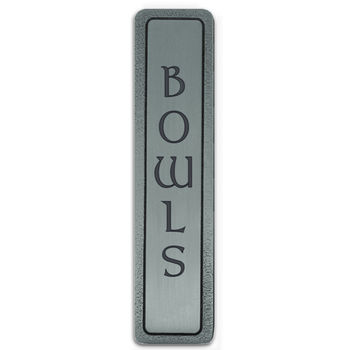 Notting Hill Kitchen ID Collection 4'' Wide (Vertical) ''Bowls'' Cabinet Pull in Antique Pewter, 4'' W x 7/8'' D x 7/8'' H