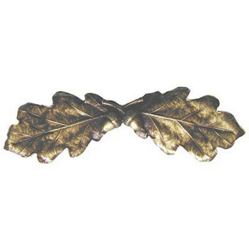 Pull, Oak Leaf, Antique Brass