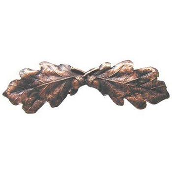 Pull, Oak Leaf, Antique Copper