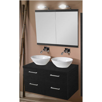 Fantastic Aurora A16 Wall Mounted Double Sink Bathroom Vanity Set Beutiful Home Inspiration Truamahrainfo