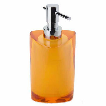 Nameeks Gedy Twist Collection Soap Dispenser, Amber