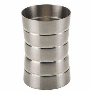 Nameeks Gedy Naos Collection Toothbrush Holder, Brushed Nickel