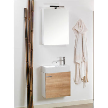 SpaceSaving WallMounted Bathroom Vanities KitchenSourcecom - Wall hung vanity cabinets