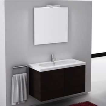 Iotti By Nameeks Trendy Tr03 Wall Mounted Single Sink Bathroom Vanity In Multiple Finishes 39 Wide Includes Main