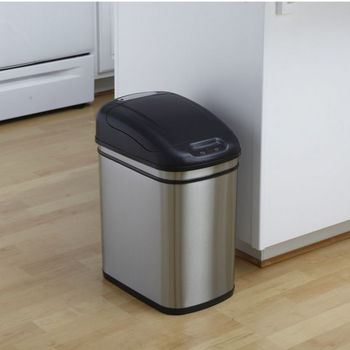 6-Gallon Stainless Steel Infrared Trash Can