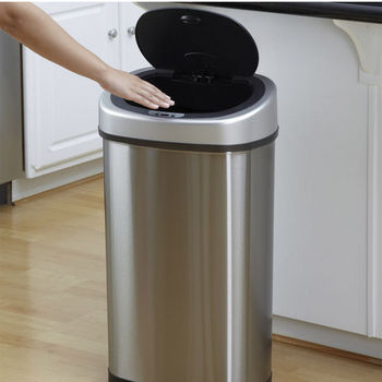 13.2 Gal. Stainless Steel Infrared Trash Can