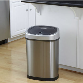 11.1 Gallon Stainless Steel Infrared Trash Can